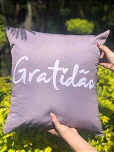 Capa Digital Gratidão Cinza Promoção