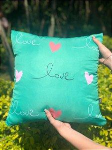 Capa Digital Love Corações Verde Promoção