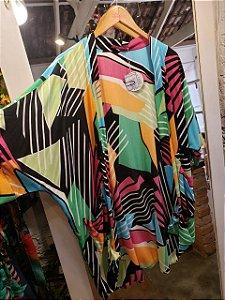 Kimono stripe verde