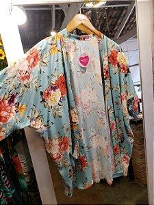 Kimono azul floral