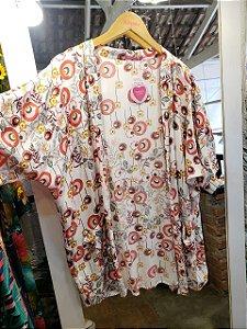 Kimono floral retrô