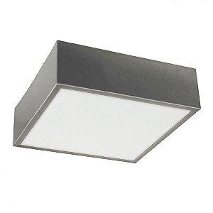 Plafon Quadrado De Aluminio Escovado 25cm