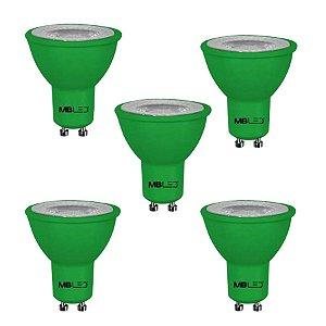 Kit com 5 Lâmpadas de Led Colorida Dicroica 6w
