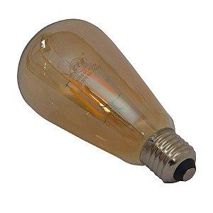 Lâmpada de Led Filamento St64 Bulbo 3,2w 2300k