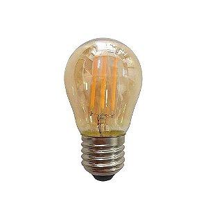 Lâmpada De Led Filamento G45 Bolinha 3,2w 2300k
