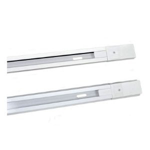 Trilho De Aluminio Eletrificado De 1 Metro Para Spot Branco