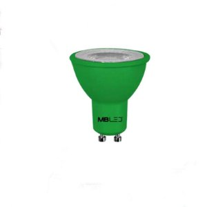 LAMPADA DE LED COLORIDA DICROICA VERDE 6W