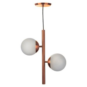 PENDENTE GLOBO DUO ROSE GOLD