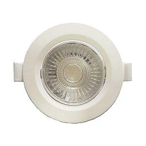 Spot 5w led Redondo Para Embutir 6500k Luz Branca