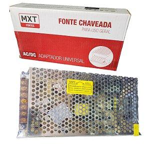 FONTE CHAVEADA PARA CFTV MULTI CAMERA  FITA LED SOM 12V 15A  BIVOLT 180W MXT