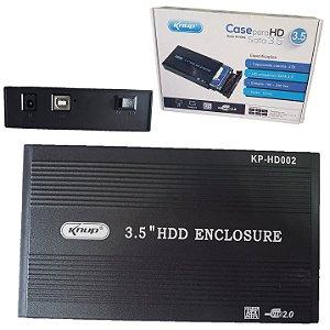 Case Para Hd Sata 3.5 Usb 2.0 Uso Externo Sony Playstation 2 Pc Notebook