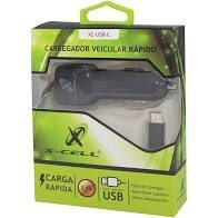 CARREGADOR VEICULAR XC-USB-C