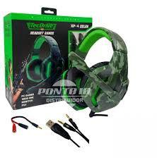 Headset Gamer Tecdrive XP-4 Selva (azul ou verde)