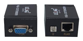 Adaptador Extensor Vga P/ Lan Cat5 Cat6 Rj45 Rede 60m 1080p