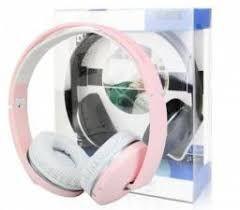 Fone de Ouvido Bluetooth com Microfone MP3 SD FM KNUP KP-420 Rosa
