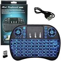 MINI TECLADO WIRELESS COM LED PARA TV SMART / ANDROID BOX / PC