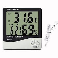 Termo-higrometro Htc 2 Com Sonda / Temp. E Umidade/relogio
