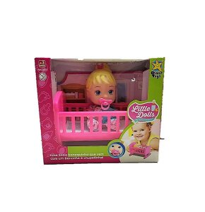 BONECA LITTLE DOLLS NO BERCINHO CX 24CM 8010