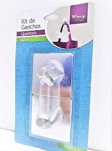 KIT DE GANCHO QUADRADO INOX IXD01055