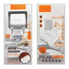 CARREGADOR DUAL USB Y29-1 V8 3.1A