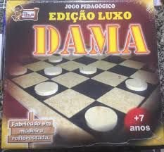 JOGO DAMA LUXO MADEIRA 3112