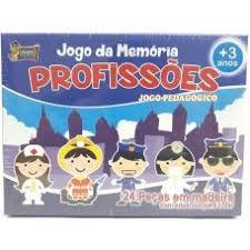 JOGO DA MEMORIA MADEIRA 24PCS PROFISSOES 4053