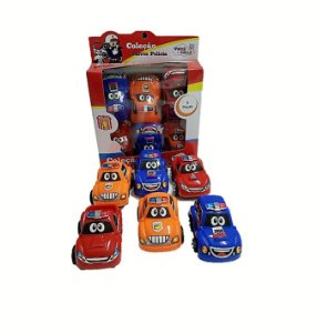 MINI CARROS COL.POLICIA C/6PCS CX 18CM