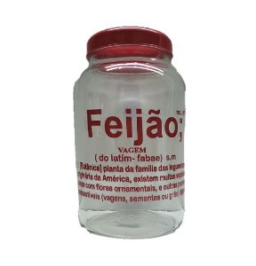 POTE DE VIDRO 3LTS FEIJAO 11-F