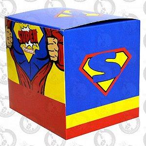 Caixa de Papelão p/ Caneca Decorada Superman pct c/ 10un