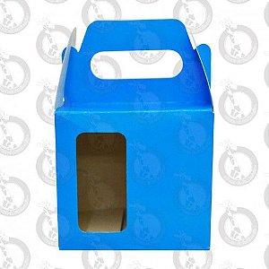 Caixa de Papelão Azul c/ Alça e Janela 10un
