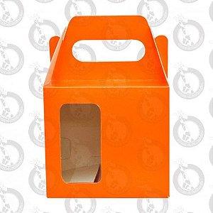 Caixa de Papelão Laranja c/ Alça e Janela 10un