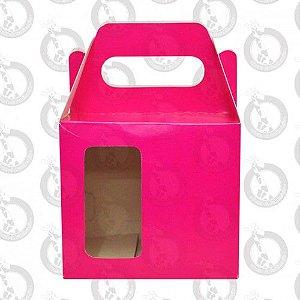 Caixa de Papelão Rosa c/ Alça e Janela 10un