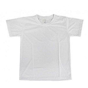 Camiseta Poliéster Adulto Branca Gola Careca para Sublimação
