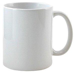 Caneca Branca de Cerâmica Importada 325ml Importada da Ponto - 1 Unidade