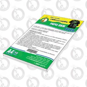 Papel OBM A4 pct c/10 Folhas Fosco