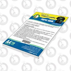 Papel OBM A4 pct c/10 Folhas Acetinado