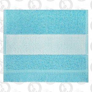 Toalha Mini Lavabo C/Franja Azul Bebê