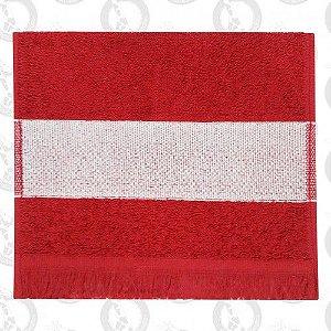 Toalha Mini Lavabo C/Franja Vermelha