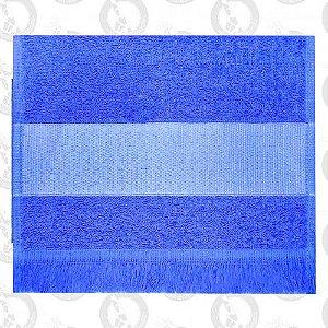 Toalha Mini Lavabo C/Franja Azul Escuro