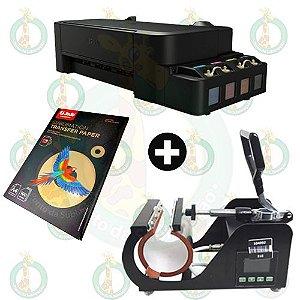 Sublikit Iniciante Prensa de Caneca Stc + Impressora Epson L120 Sublimática