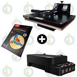 Sublikit Iniciante Prensa Plana 40x60 Stc + Impressora Epson L120 Sublimática