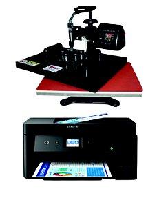 Sublikit Iniciante Prensa Plana 32x45cm Giratória + Impressora Epson L14150 Sublimática