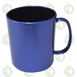 Caneca Polimero 325ml Azul Escuro Interior Preto