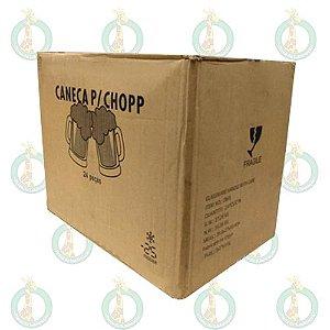 Caneca Vidro Chopp Fosca (Jateada) Caixa c/24 unidades