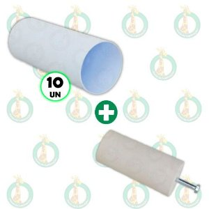Kit 10 Long Drink Branco 310ml + 1 Molde de Gesso