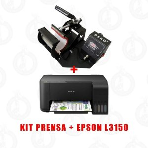 KIT PRENSA DE CANECA + IMPRESSORA EPSON L3150 + (BRINDE)