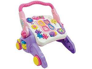 Andador Interativo Infantil com Som 4 Em 1 Rosa - Maral