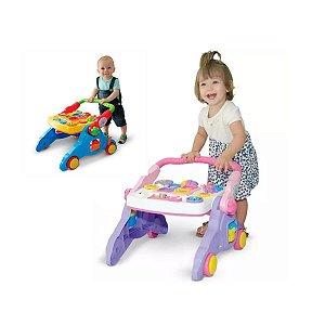 Andador Infantil Bebe Menino Menina Didático Mesa Atividades Musical 4 em 1 - Maral