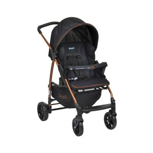 Carrinho de Bebê Infantil Ecco Preto Cobre - Burigotto