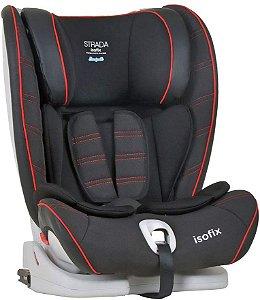Cadeira para Auto Strada Isofix Black Red Line - Burigotto